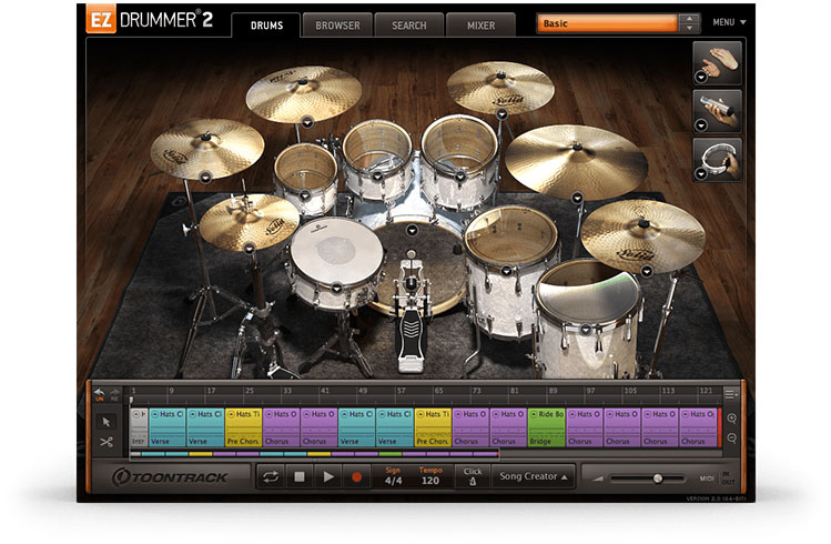 EZdrummer2 Sound test The Classic 4 Mic Kit